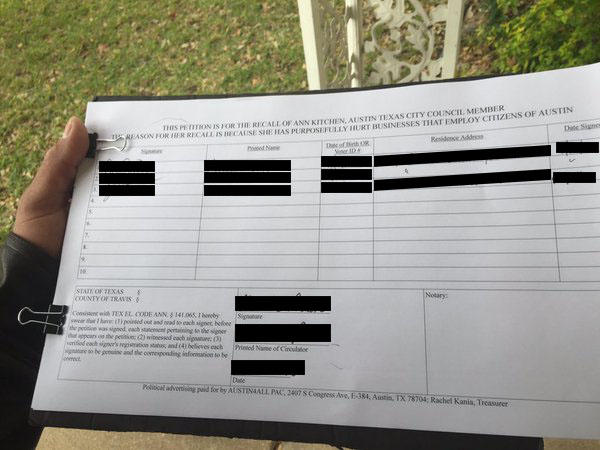 Behind the Ethics Complaint Leveled at the Ann Kitchen Petition KUT - petition office
