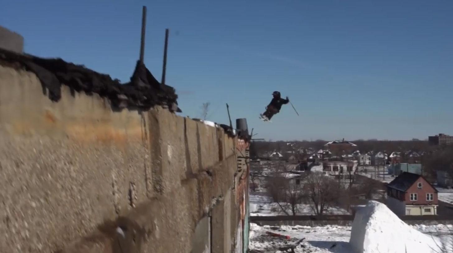Stunt Wallpaper Hd Stunt Skiiers Drop In On The Ruins Of Detroit Michigan Radio