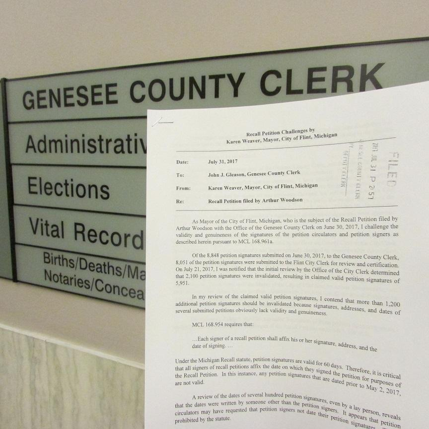 Flint\u0027s mayor challenges recall petition signatures Michigan Radio - petition office