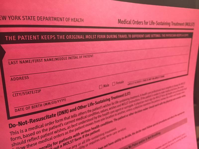 Push To Take End-Of-Life Forms Digital Reveals Complicated Path - dnr medical form