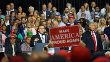 Image result for Florida Rallies: Trump-DeSantis Speak