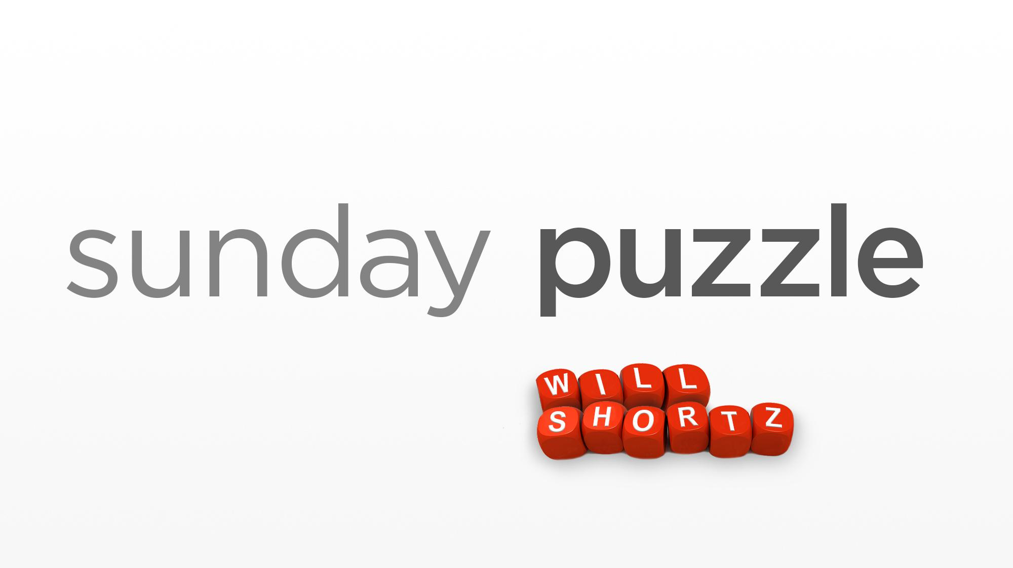 / Name Sunday Puzzle The Name Of The Game Public Radio East