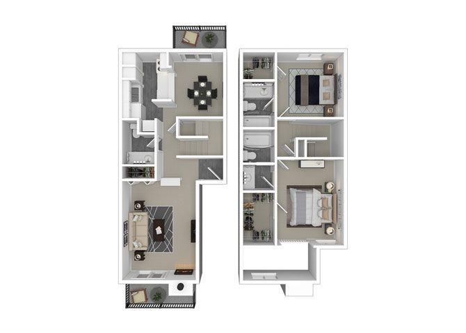 2 Bed 2 Bath Apartment In Austin Tx Greystone Flats