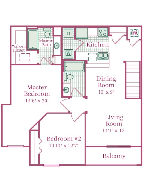 2 Bed / 2 Bath Apartment in Mount Joy PA The Crest at Elm Tree