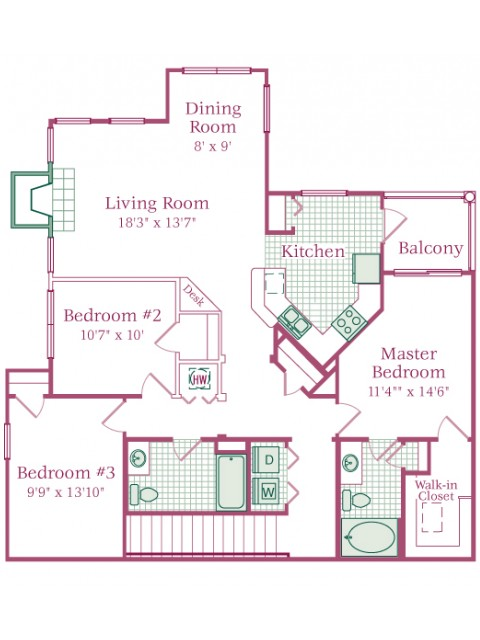 3 Bed / 2 Bath Apartment in Mount Joy PA The Crest at Elm Tree