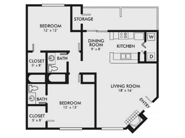 2 Bed 2 Bath Apartment In Birmingham Al Wood Springs