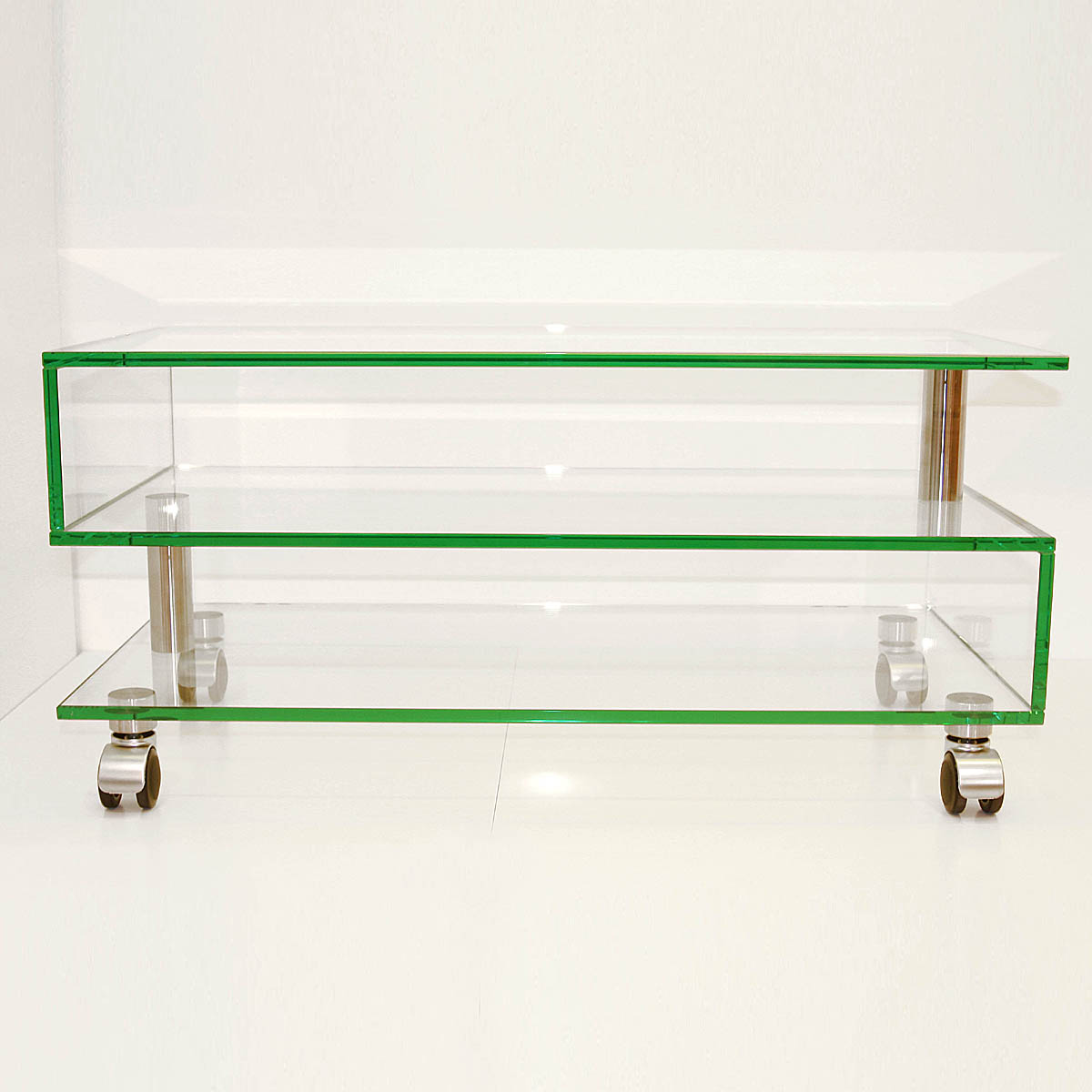 Tv Rack Glas Mit Rollen Glass Concept Mid Roll S Tv-möbel