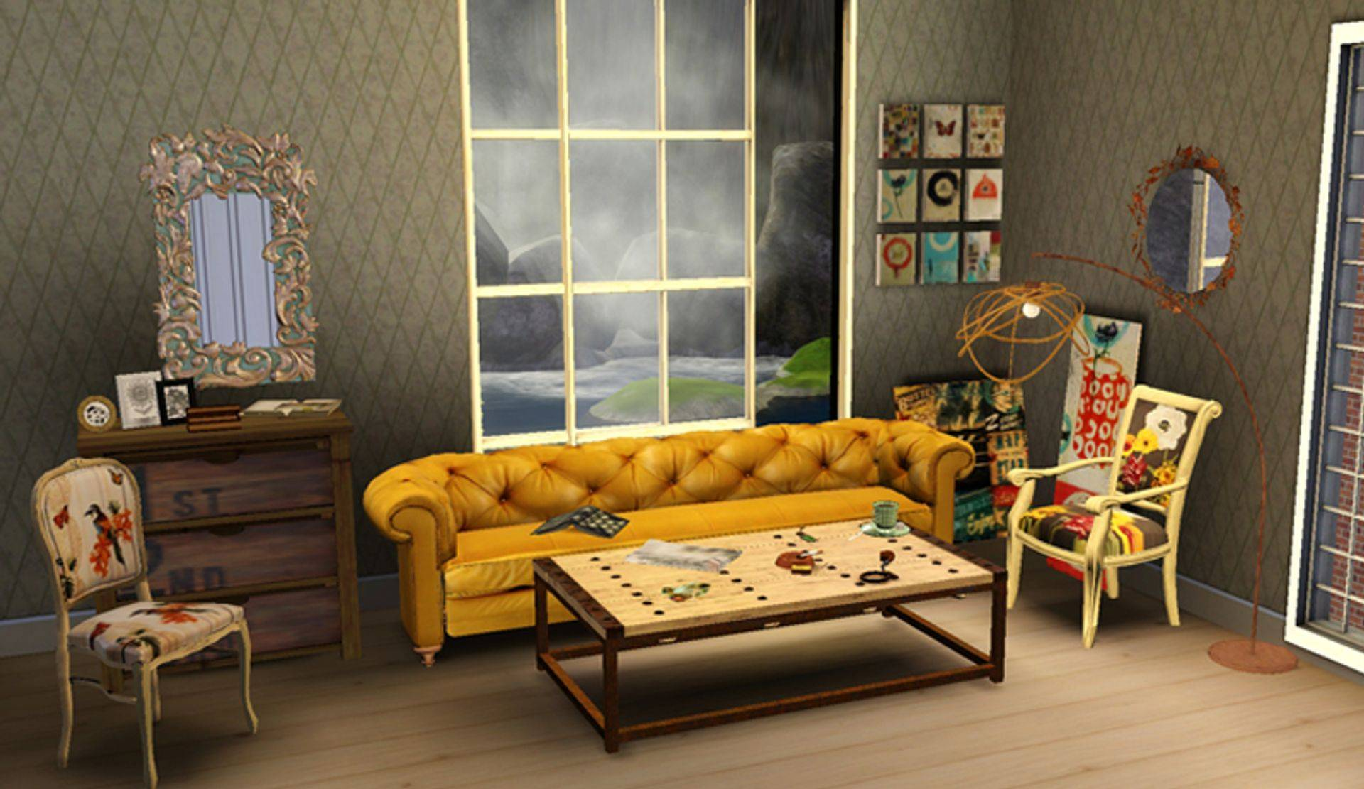 Chesterfield Sofa Sims 4 Kitkat 39s Simporium Pillows And Rugs