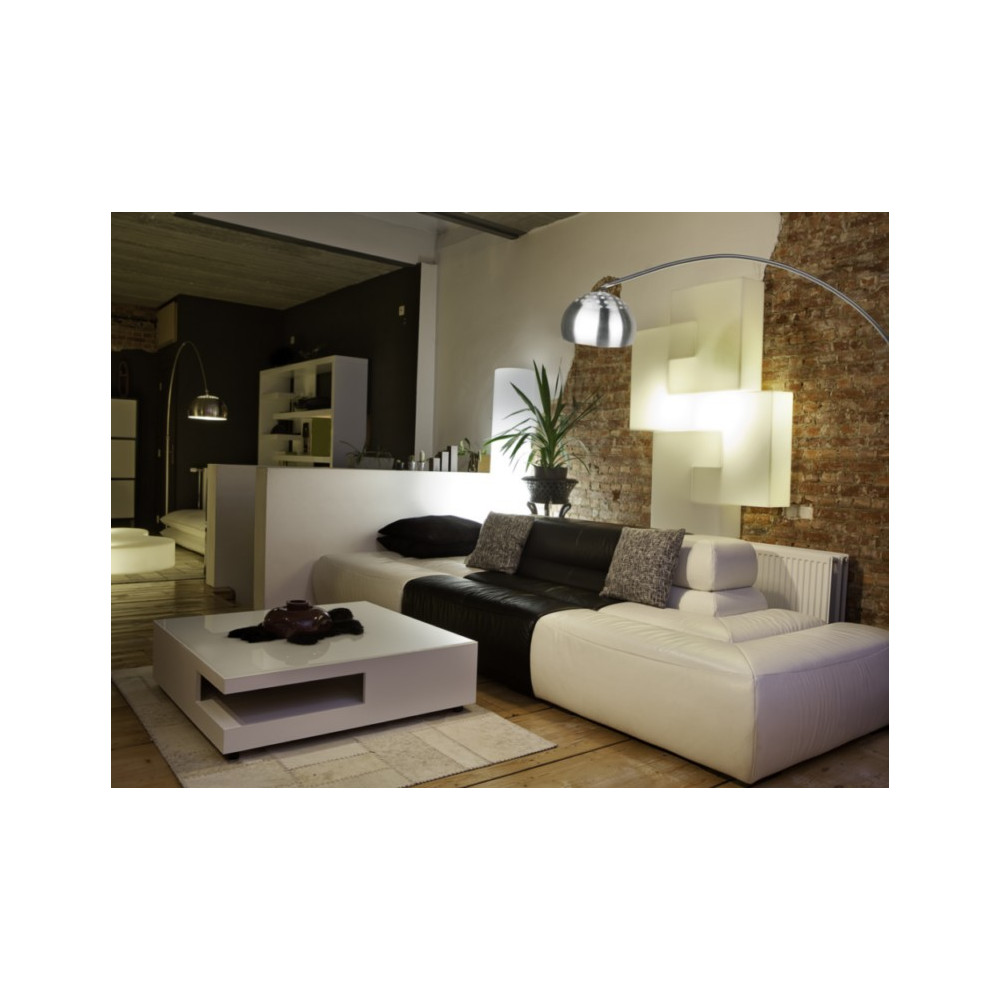 Lampe De Salon Design Grand Lampadaire Arc Design Socle Marbre Noir Sur Lampe Avenue