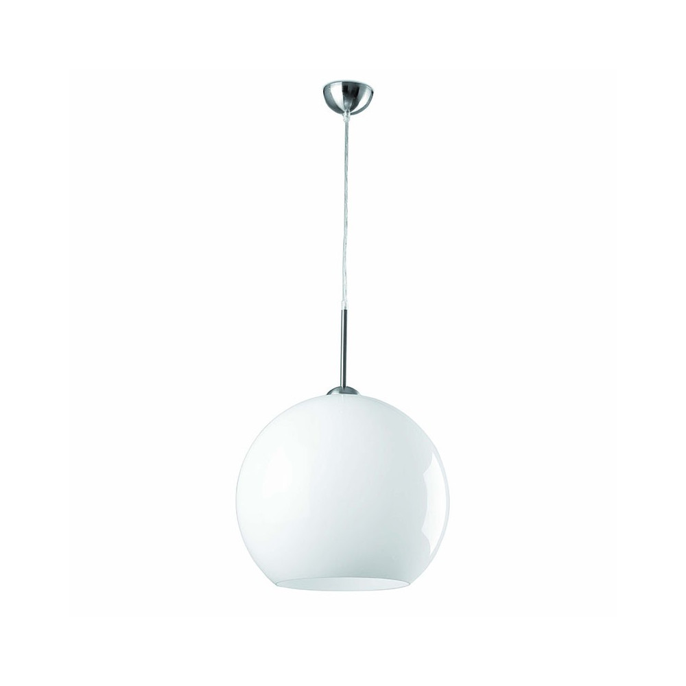 Suspension Blanche Suspension Boule Blanche Design Années 70 Pop Art 2 Dimensions