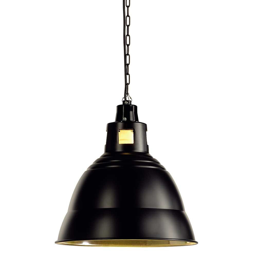 Led Gu10 Suspension Industrielle Noire En Métal - Lampe Avenue