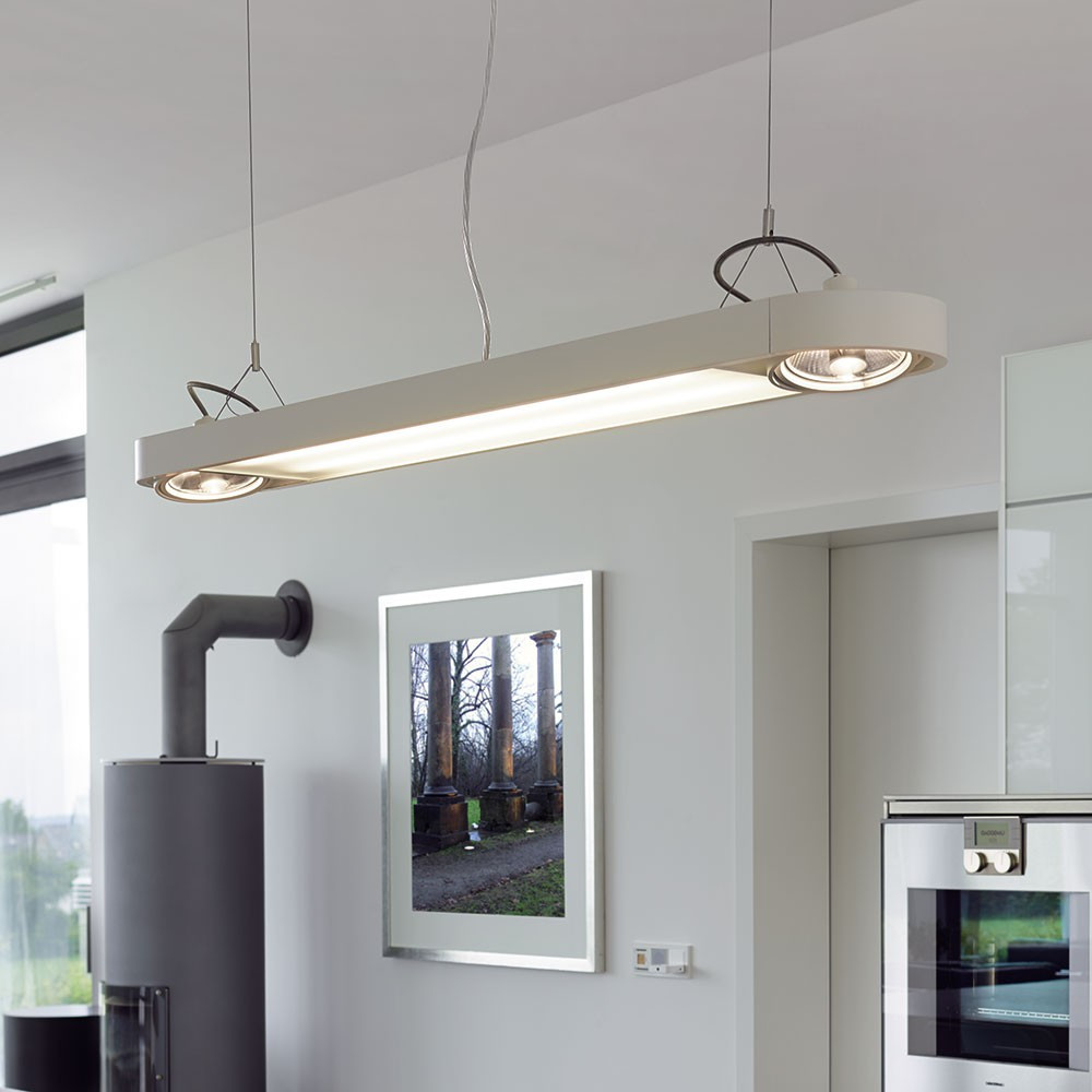 Suspension Moderne Grande Suspension Moderne Blanche En Alu Lampe Avenue