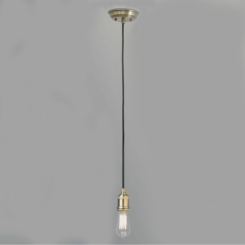 Lampe E14 Suspension Ampoule Vintage Couleur Or En Vente Sur Lampe