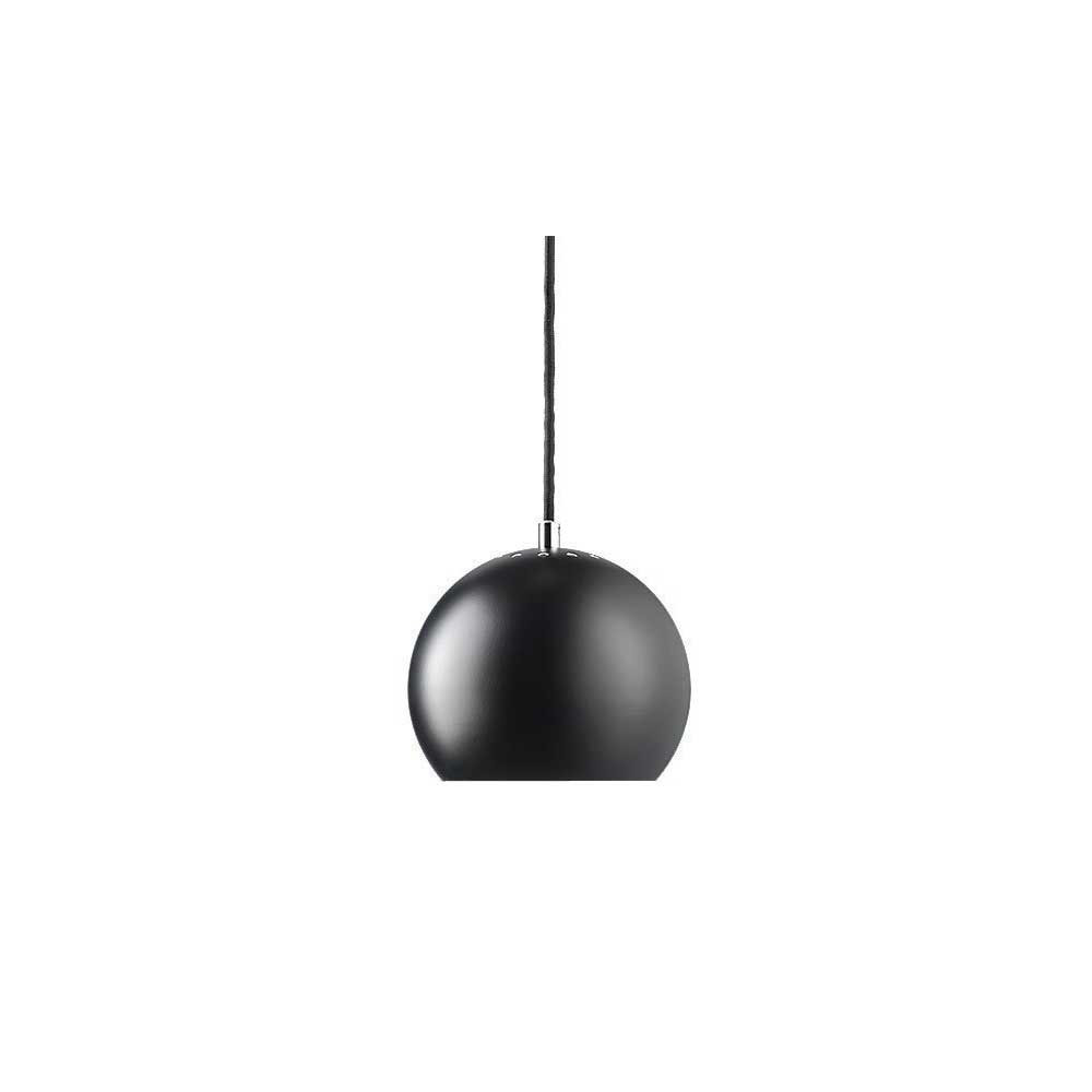 Gu10 Lampe Suspension Ball Design En Métal Noir Mat Frandsen - Lampe