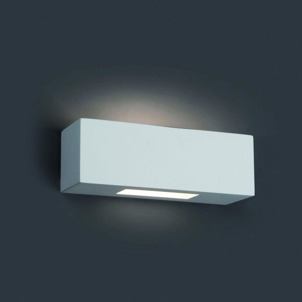 Ampoule Spot Applique Murale Blanche Rectangle. Luminaire Faro.