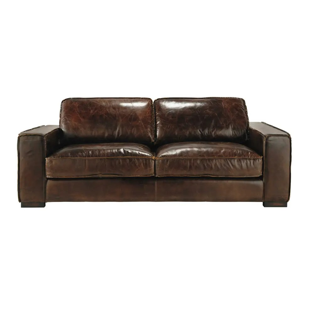 Bettsofa Vintage 3 Seater Leather Vintage Sofa In Brown