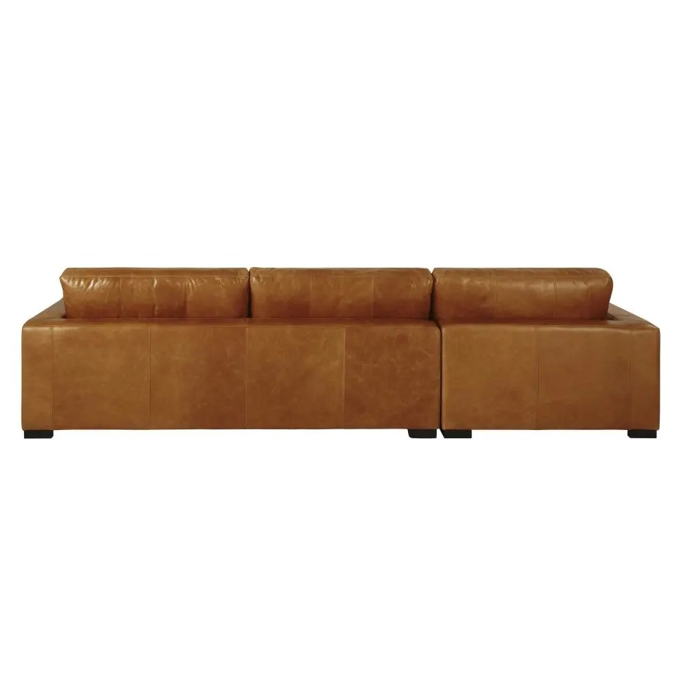 Bettsofa Vintage 5 Seater Vintage Leather Corner Sofa Camel