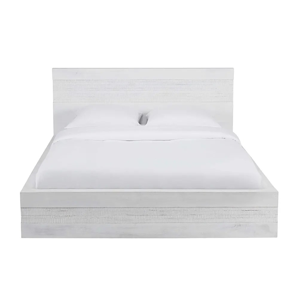 180 X 200 Antique White Solid Mango Wood Bed 180 X 200