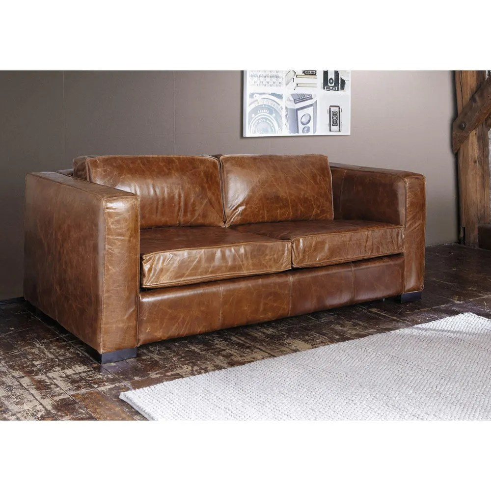 Antik Sofa Braun Sofa Industrial Look Industrie Design
