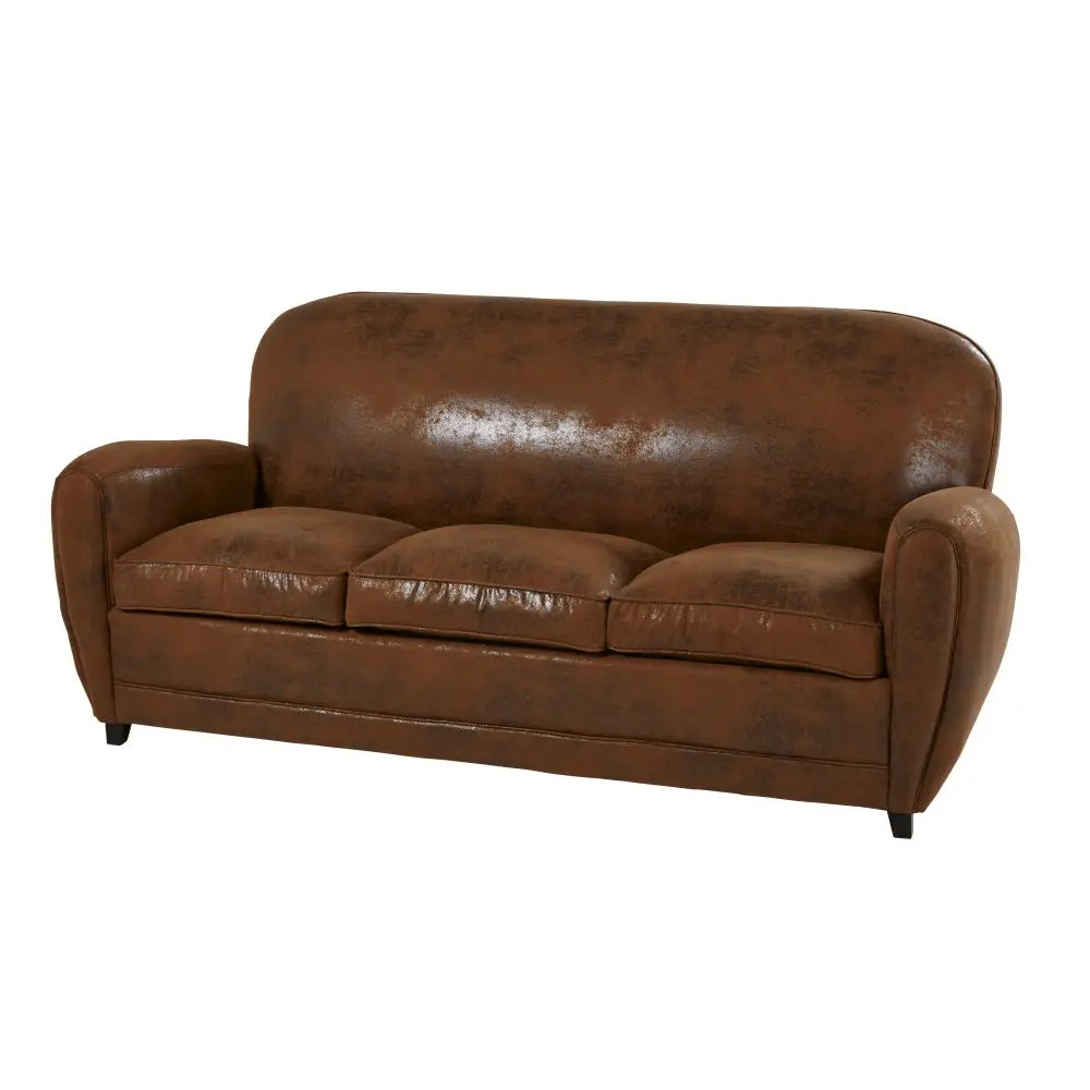 Sofa Cama Vintage Brown Vintage 3 Seater Suede Sofa Bed
