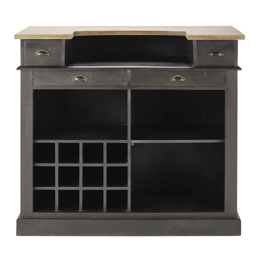 Barmöbel Set Charcoal Grey Bar Unit