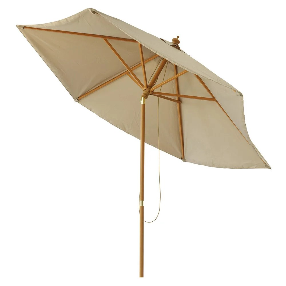 Parasol Taupe Fabric And Aluminium Tilting Parasol In Taupe