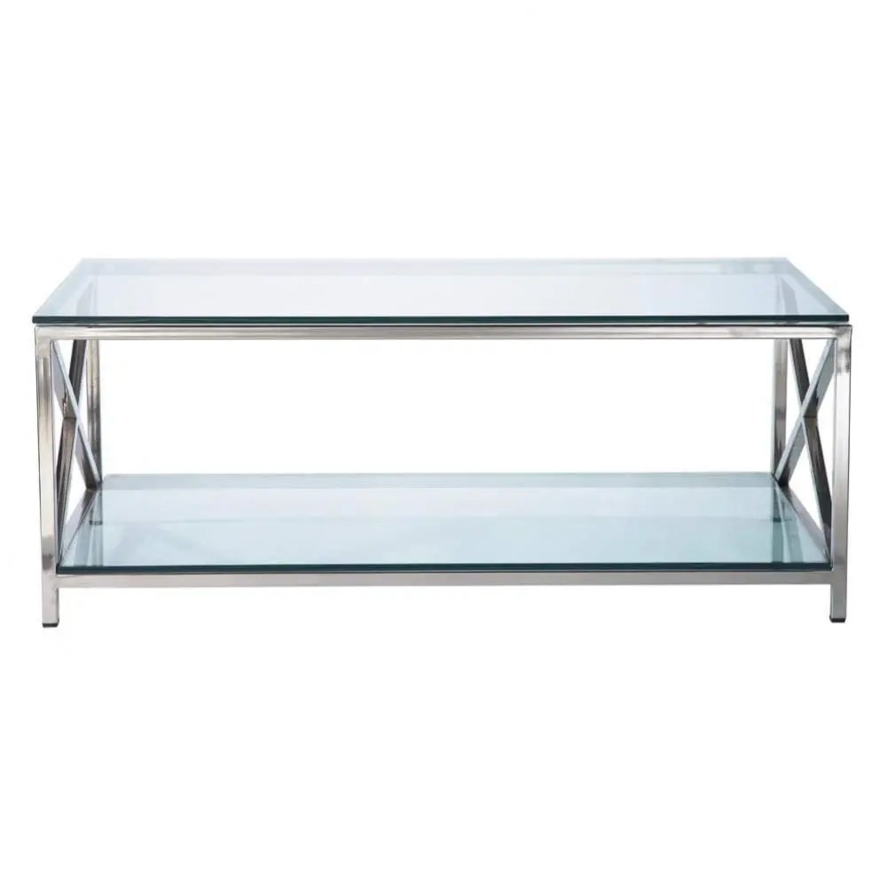 Maisons Du Monde Couchtisch Glass And Metal Coffee Table W 110cm