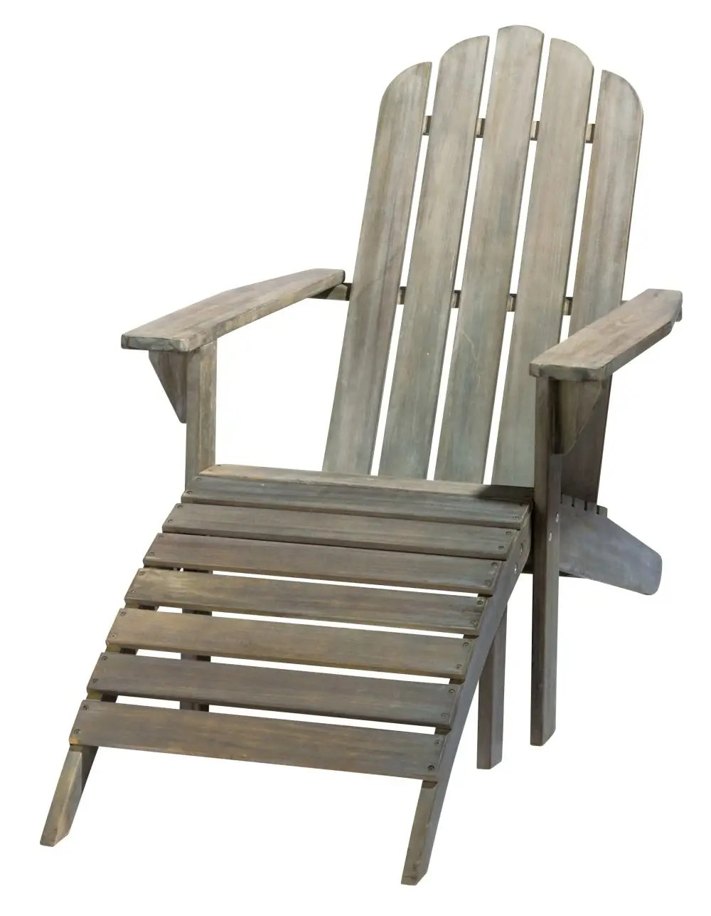 Adirondack Sessel Grey Acacia Wood Sun Lounger