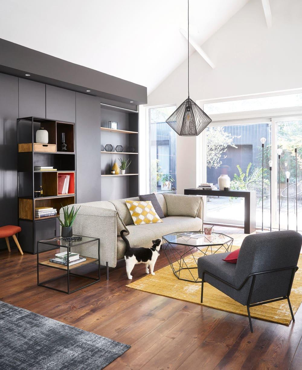 Wohnzimmermöbel Betonoptik
