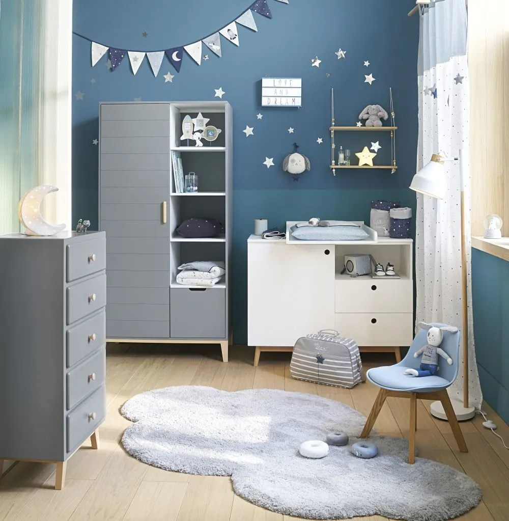 Commode Bleue Maison Du Monde Commode Blanche 1 Porte 2 Tiroirs