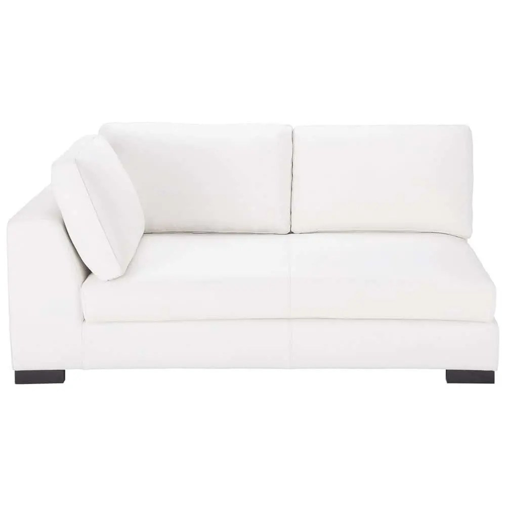 Maison Du Monde Schlafsofa Leather Lhf Modular Sofa Bed In White