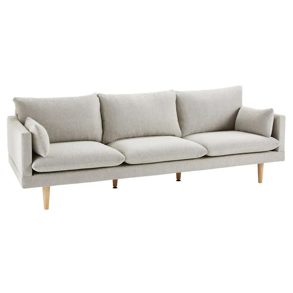 Ronde Sofa Light Grey 3 Seater Sofa