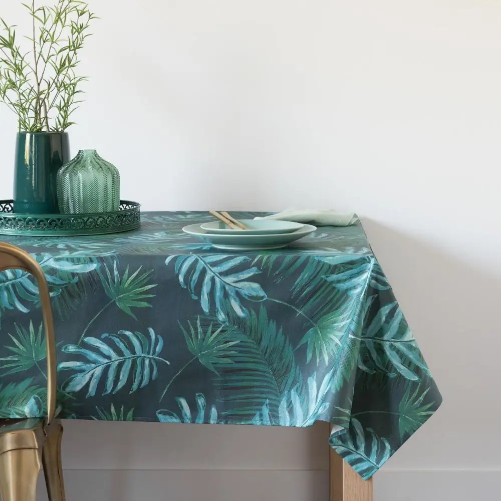 Maison Du Monde Nappe De Table Nappe Enduite Imprimé Jungle 140x250 | Maisons Du Monde