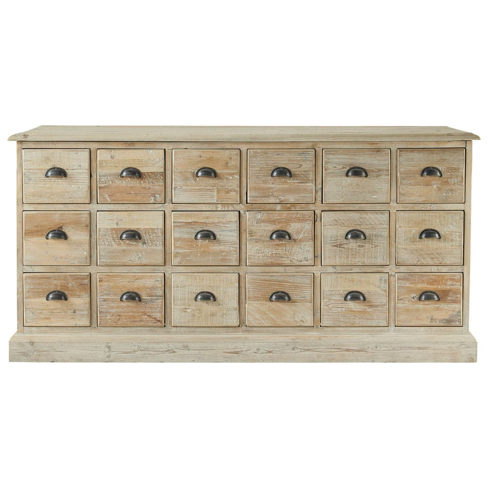 Cassettiere Vintage Maison Du Monde Recycled Pine Counter Chest