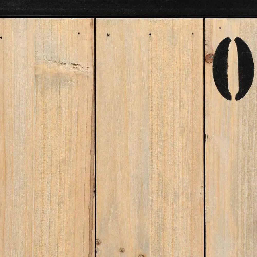 Holz Schwarz Regal Schwarz Holz Elegant Ts Ideen Set Von 3 Schwarz