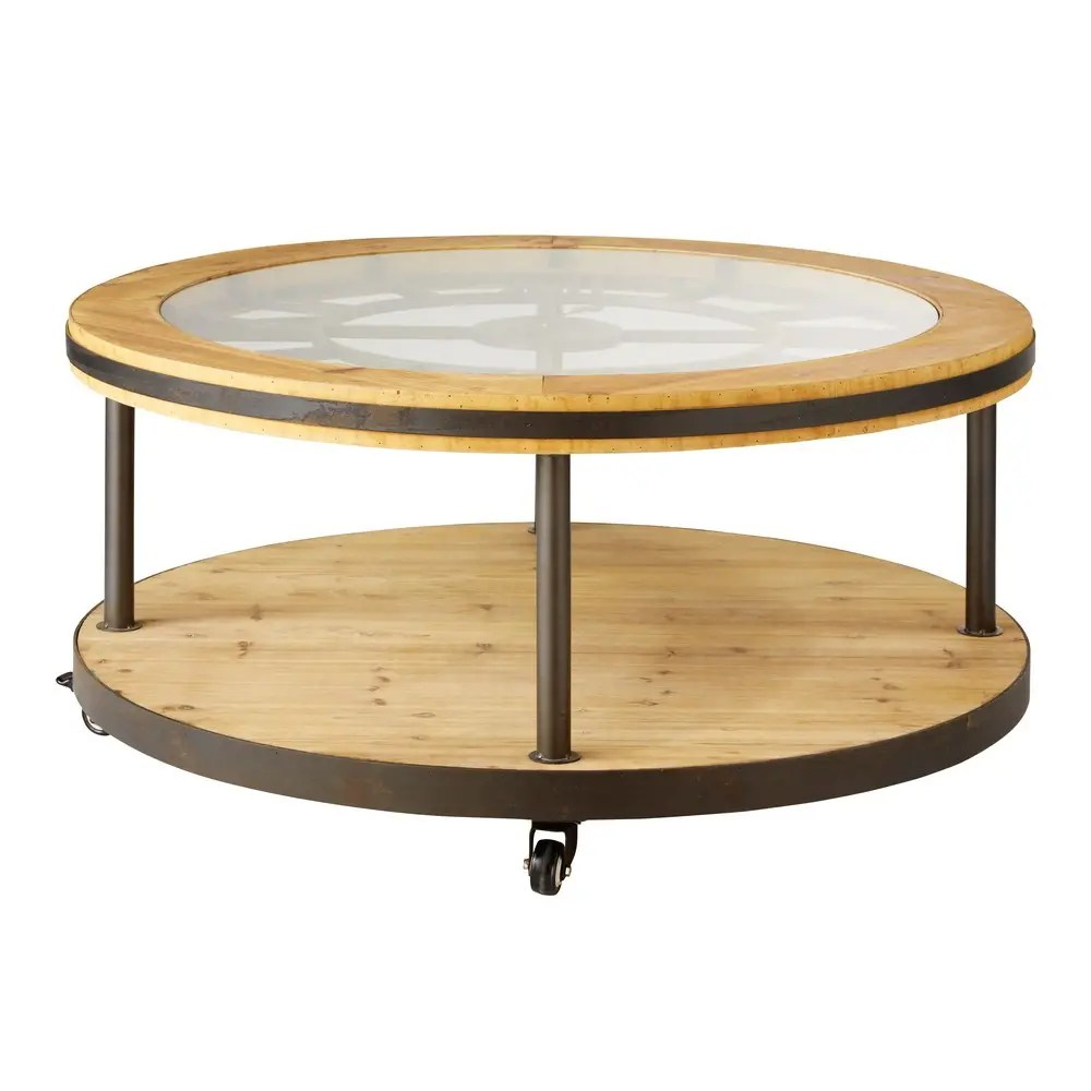Couchtisch Maisons Du Monde Round Clock Coffee Table