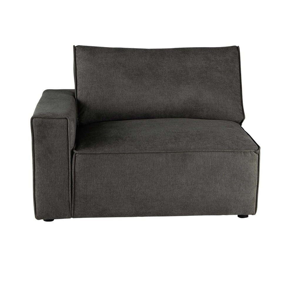 Couch Stoff Sofa Armlehne Links Aus Stoff Grautaupe