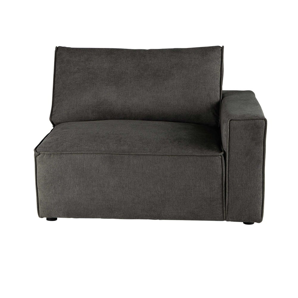 Couch Stoff Sofa Armlehne Rechts Aus Stoff Taupe