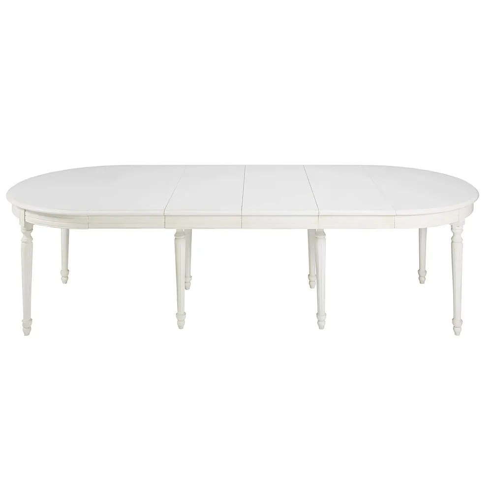 Table Arrondie Table à Manger Ronde Extensible 4 à 14 Personnes En Bouleau Blanc L120 280