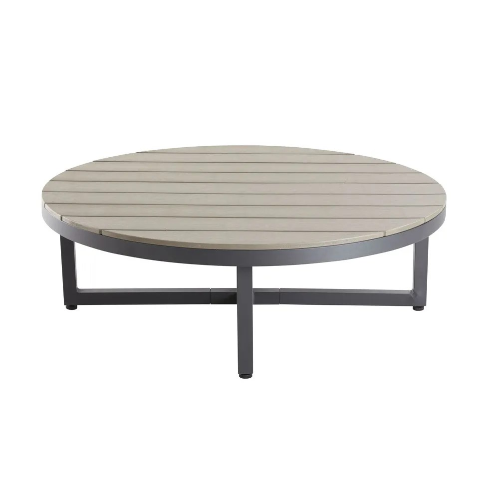 Table Basse Jardin Ronde Table Basse De Jardin Ronde En Composite Et Aluminium