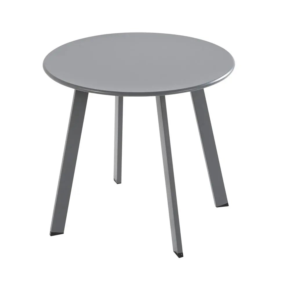 Table Basse Jardin Ronde Table Basse De Jardin Ronde En Métal Gris Anthracite
