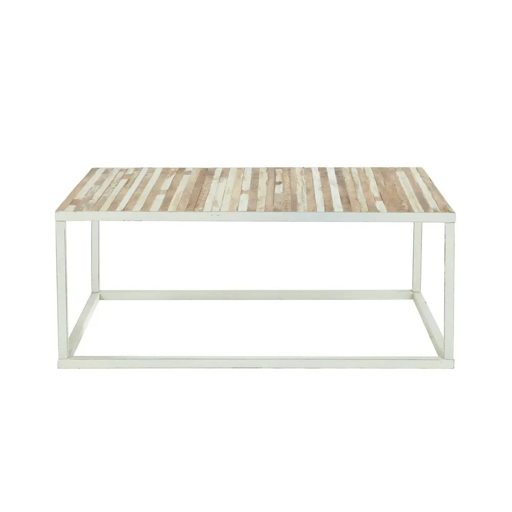 Table Metal Blanc Table Basse En Métal Blanc