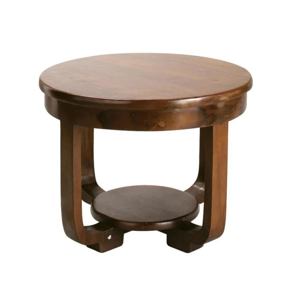 Table En Teck Ronde Table Basse Ronde En Teck Massif D 60 Cm