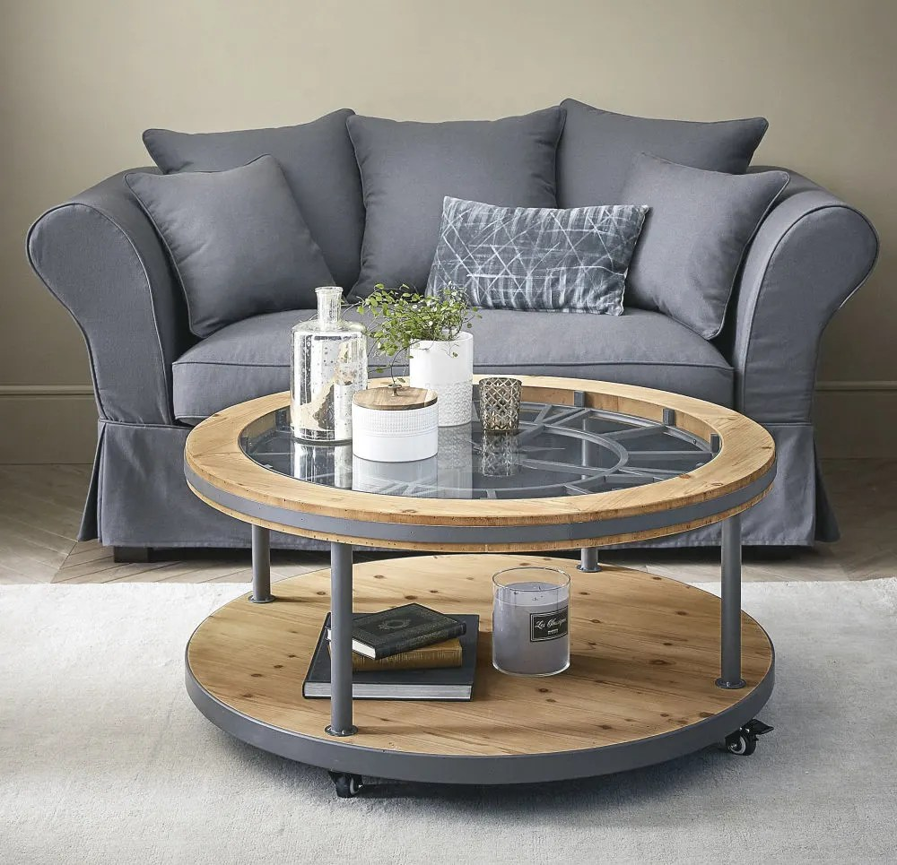 Table Basse Ronde Design Table Basse Ronde Horloge