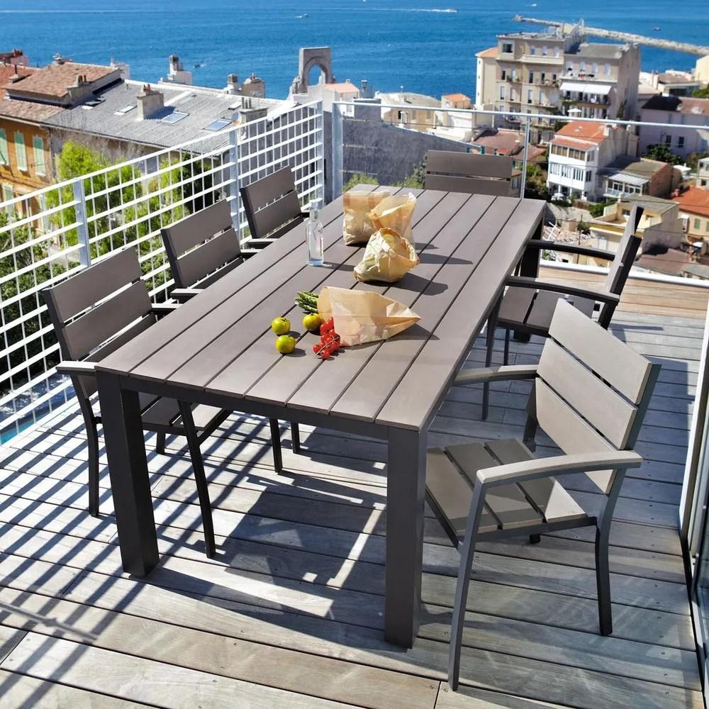 Table De Jardin | Table De Jardin Ronde 70 Cm En Aluminium Et Résine ...