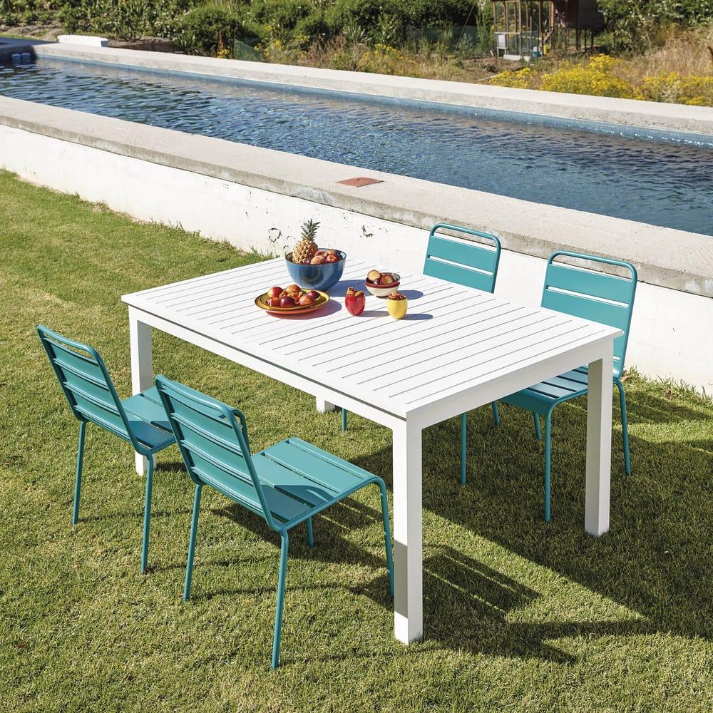Table De Terrasse Blanche | Table Berlin Noire 120cm