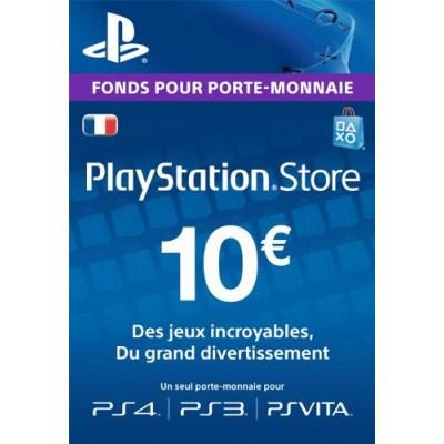 PSN Card 10 euros PS4 - PS3 - PS Vita - PS3