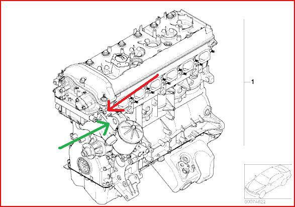 2006 bmw x3 Schema moteur