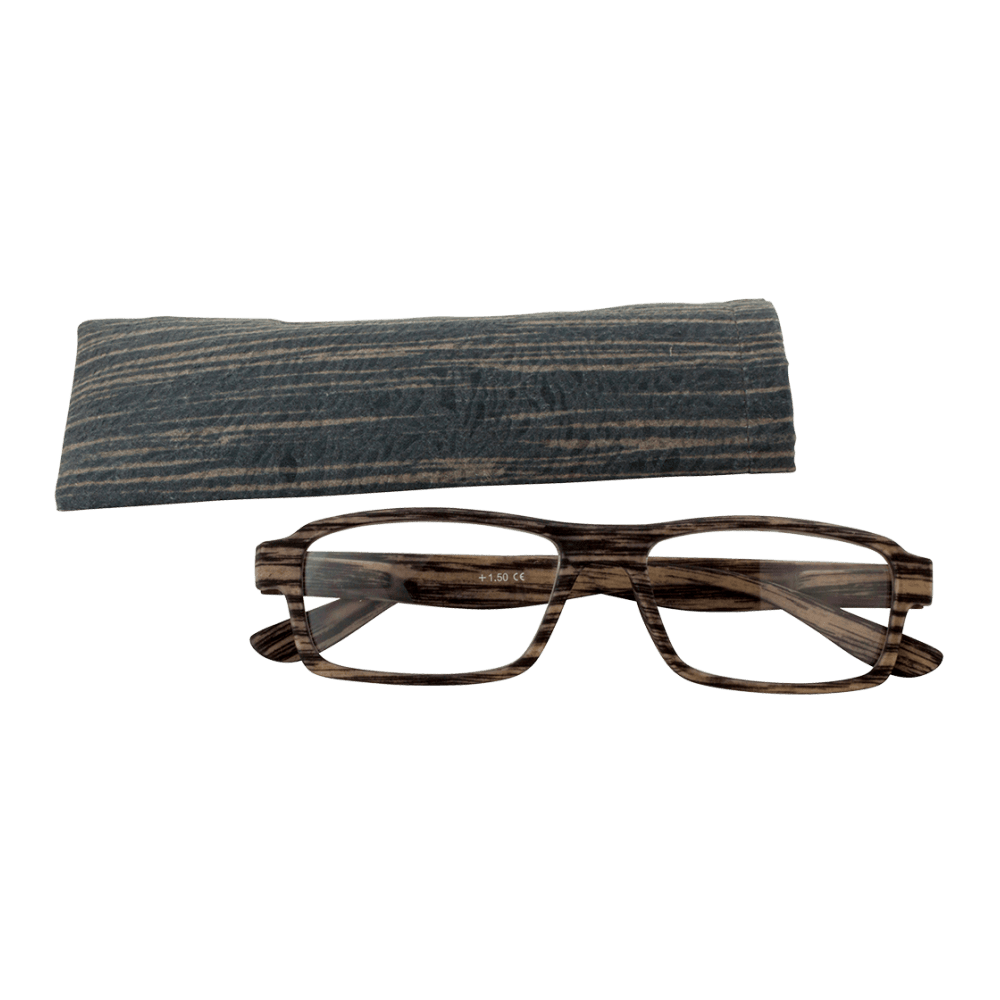 Bois Transparent Korrekturbrille Bois Rectangle Dunkelbraun