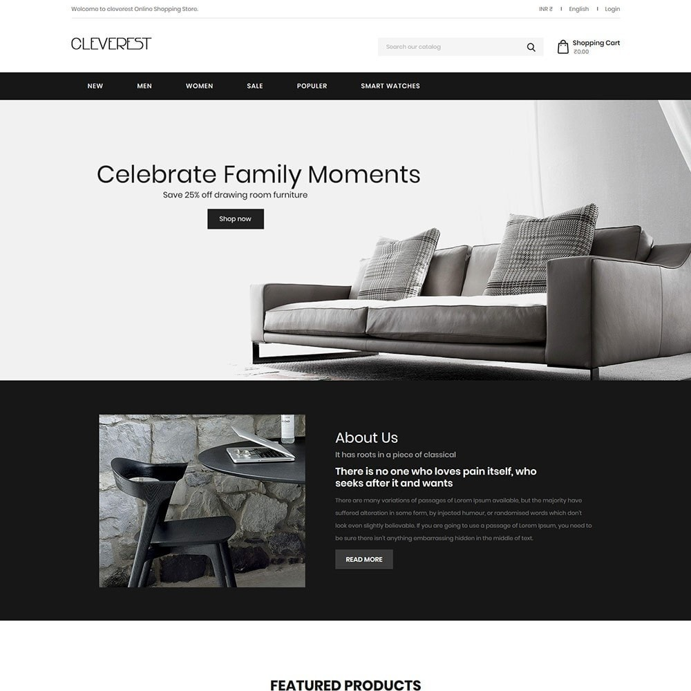 Cleverest Furniture Store Prestashop Addons